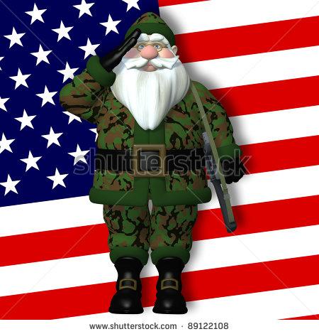 Santa Salute Clipart.