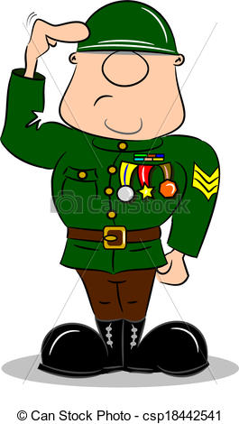Soldier Salute Clipart.