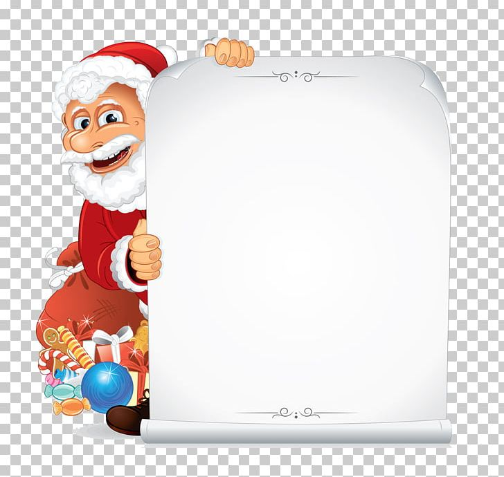 Santa Claus Paper Scroll PNG, Clipart, Christmas Decoration.