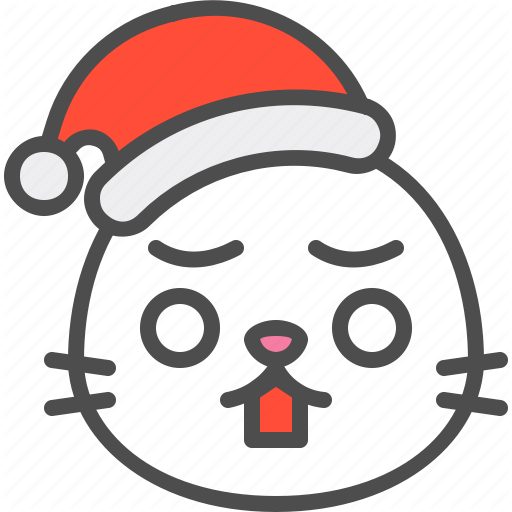 \'Santa Seal emoticon (filled)\' by icon stall.