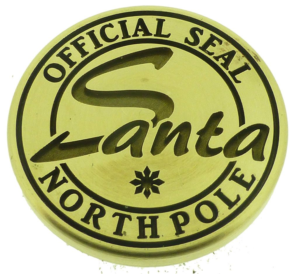 Custom Wax N Seals Santa North Pole Official Wax Seal Design.