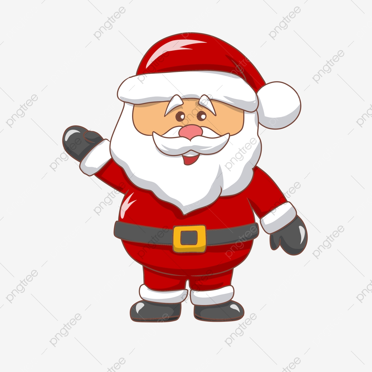 Merry Christmas Santa Holding A Sign, Santa Clipart, Sign.