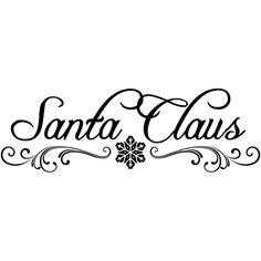 Santa Claus Signature Clipart.