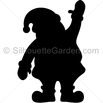 Santa silhouette clipart images gallery for free download.