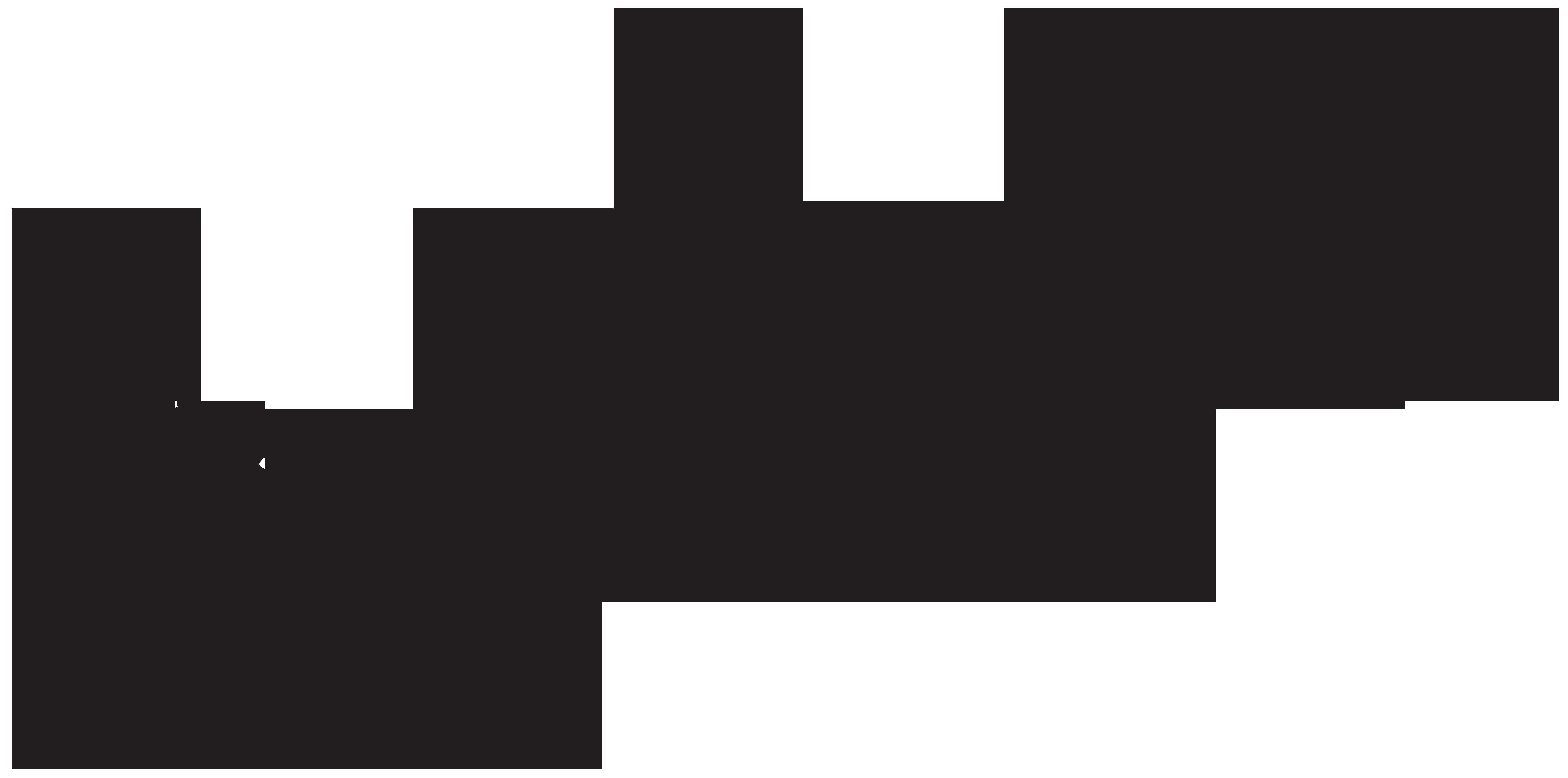 Santa Claus Silhouette PNG Clip Art.