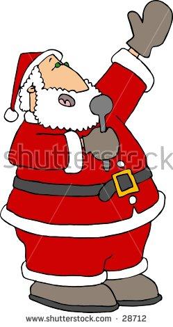santa singing clipart #14