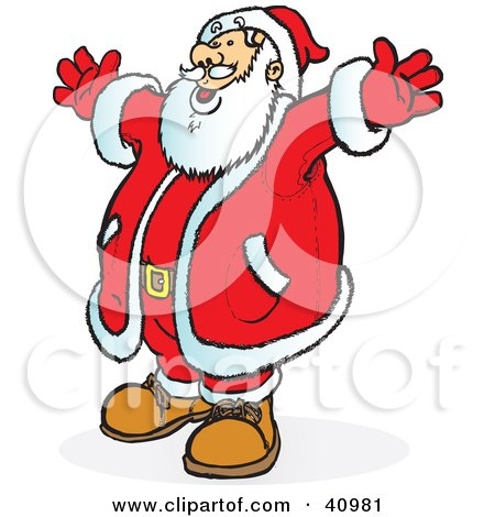 santa singing clipart #5