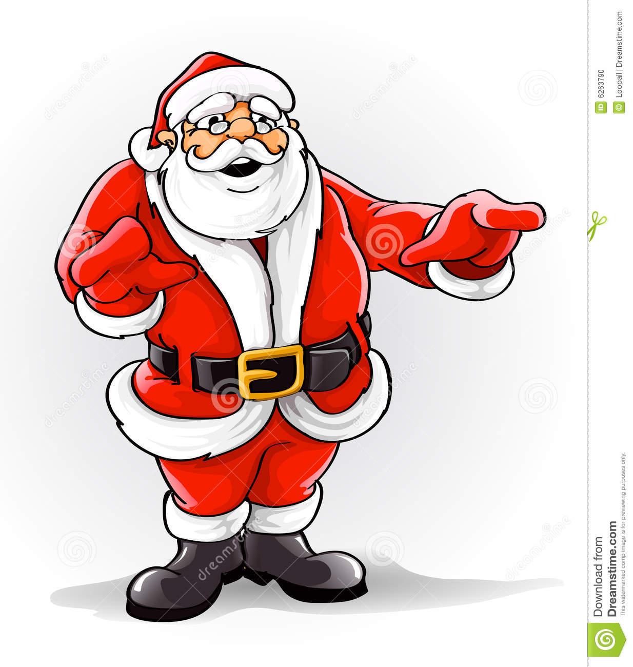 Vector Santa Claus Singing Christmas Song Stock Photo.