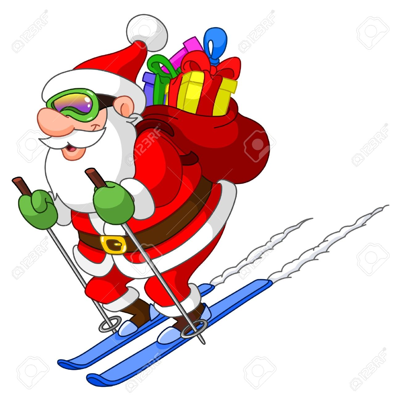 Showing post & media for Santa skiing cartoon.