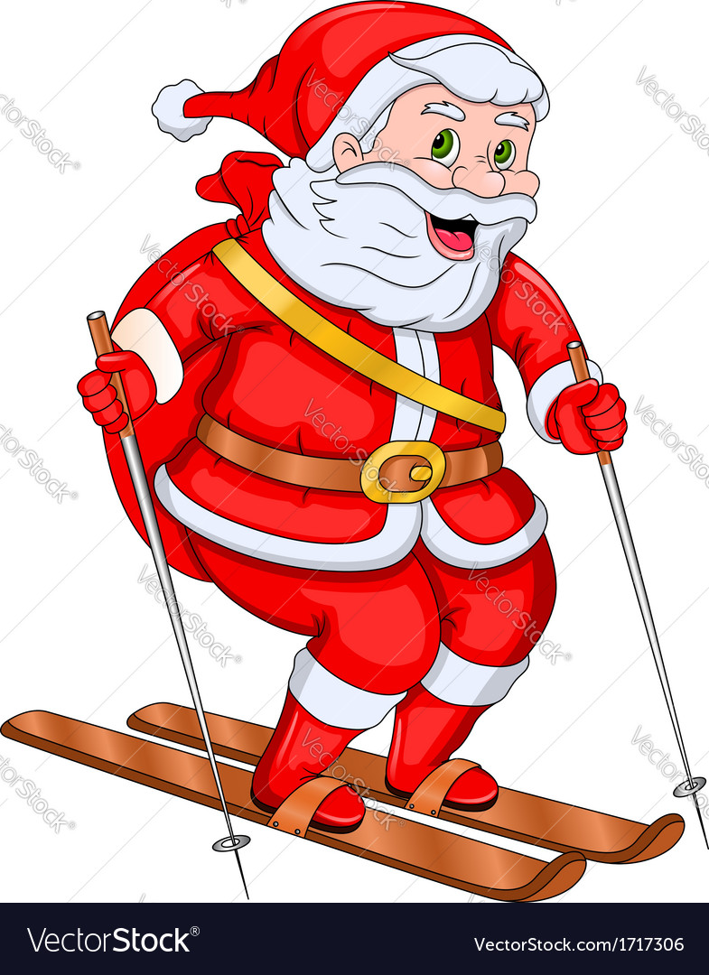 Showing post & media for Santa snow skiing cartoon.