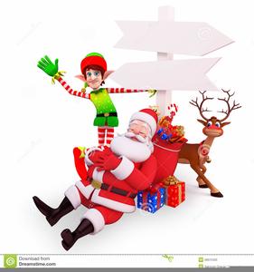 Santa Sleeping Clipart.