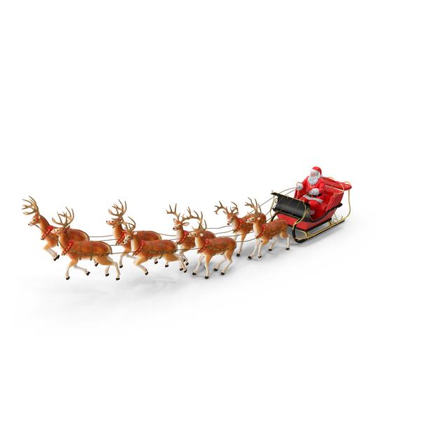 Santas Sleigh With A Reindeer Png & Free Santas Sleigh With.