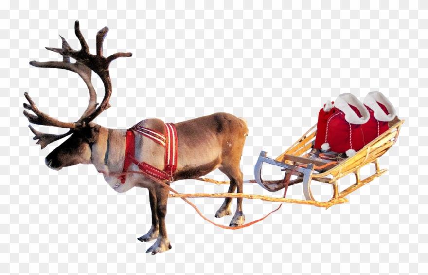 Santa Sleigh Png Clipart.