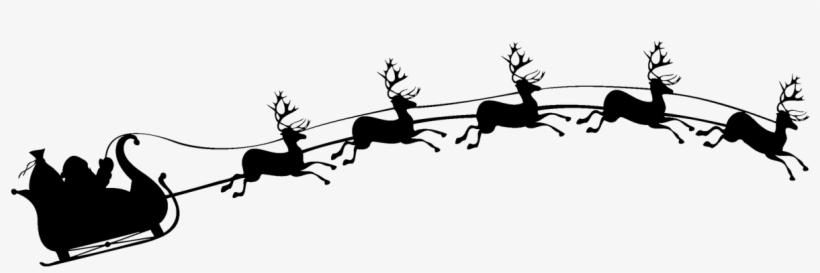 Santa Sleigh Silhouette PNG & Download Transparent Santa.