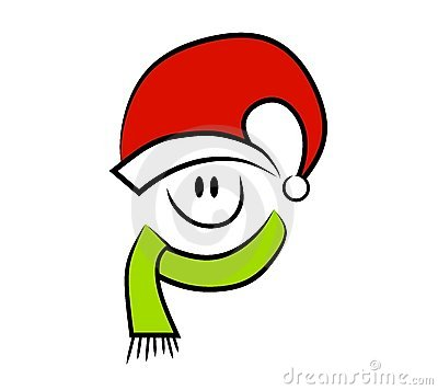 Smiling Christmas Happy Face Royalty Free Stock Photography.