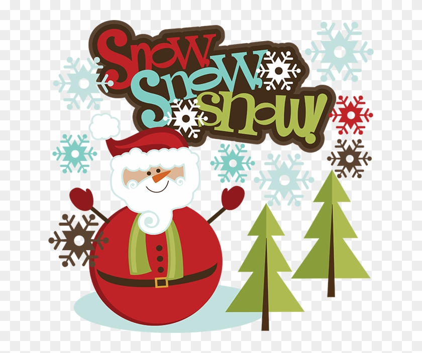 Banner Royalty Free Library Snow Svg Santa Snowman.