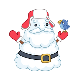 Santa snowman Icon.