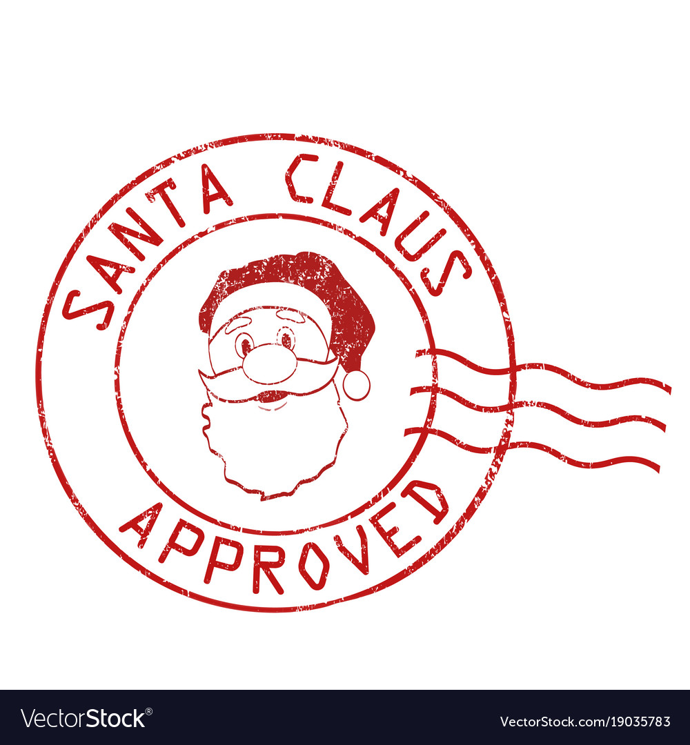 Santa claus approved stamp.