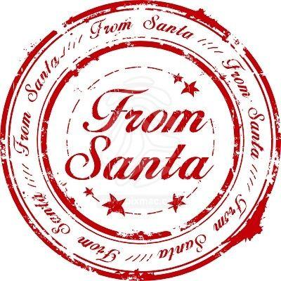 FROM SANTA, CHRISTMAS CLIP ART.