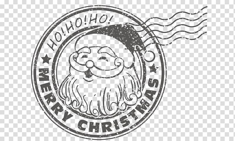 Christmas Stamp transparent background PNG cliparts free.