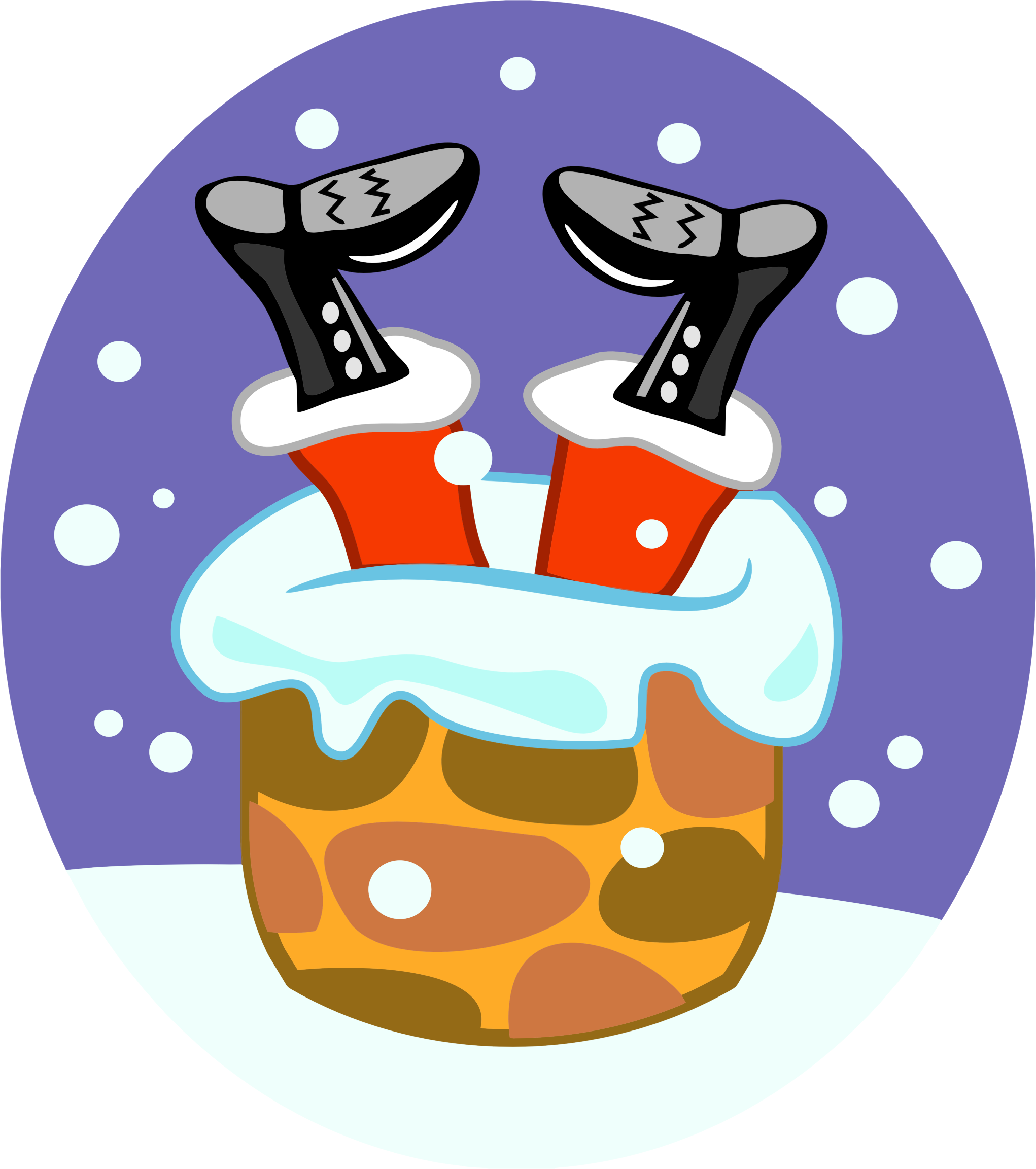 Santa stuck in chimney clipart images gallery for free.