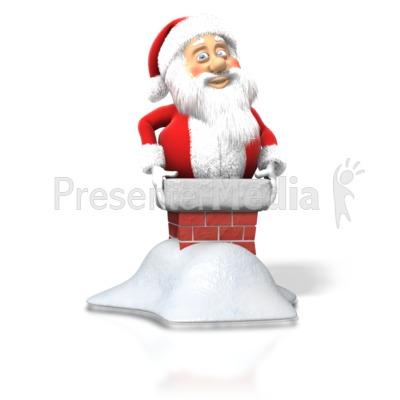 Santa Stuck Chimney.