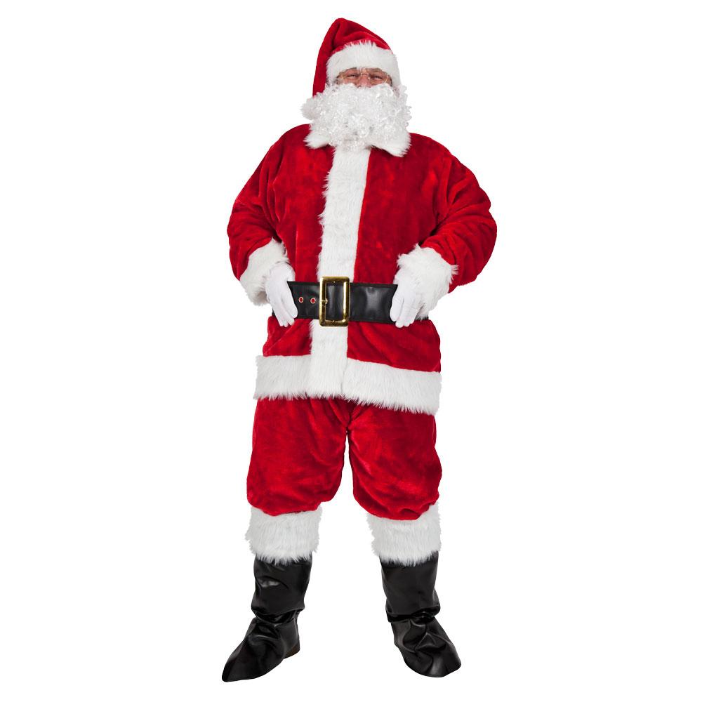 Luxury Plush 8 Piece Santa Suit.