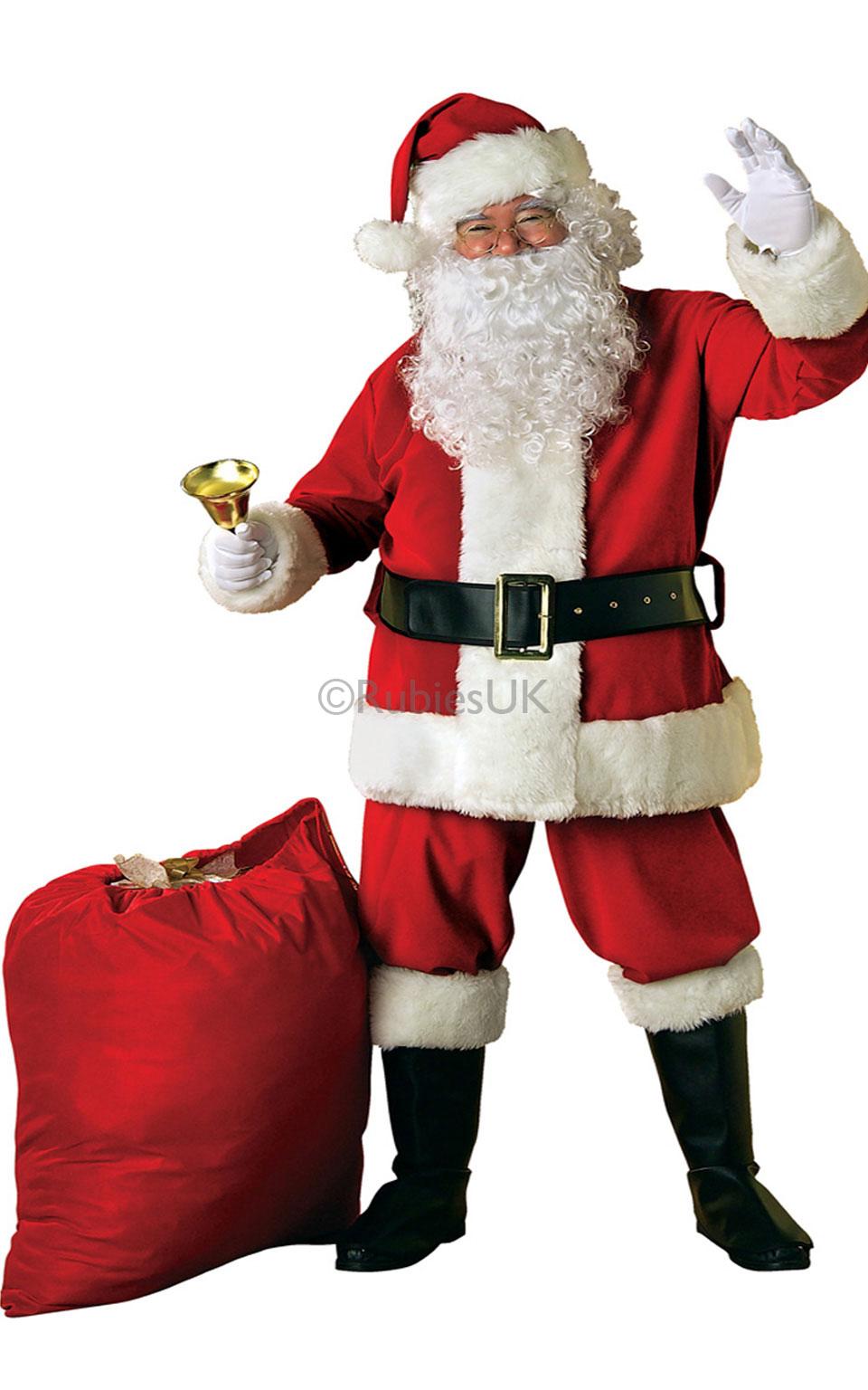 Deluxe Velvet Santa Suit Costume.