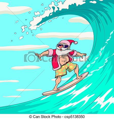 Surfing santa Clip Art Vector and Illustration. 131 Surfing santa.