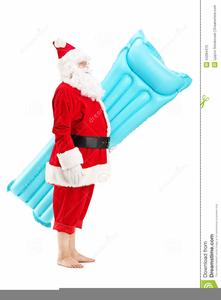 Swimming Santa Clipart.