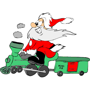 Santa Train clipart, cliparts of Santa Train free download.