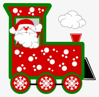 Free Christmas Train Clip Art with No Background.