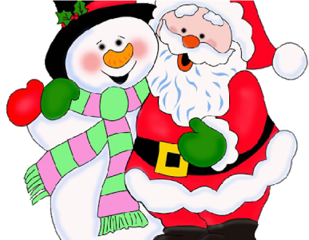 Santa And Christmas Tree Clip Art.