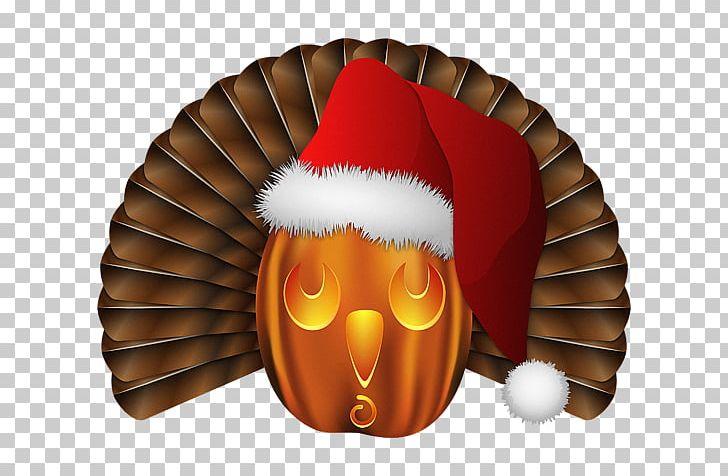 Santa Claus Pumpkin Christmas Day Turkey Printing PNG.