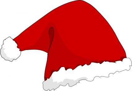 Vector santa hat clipart.