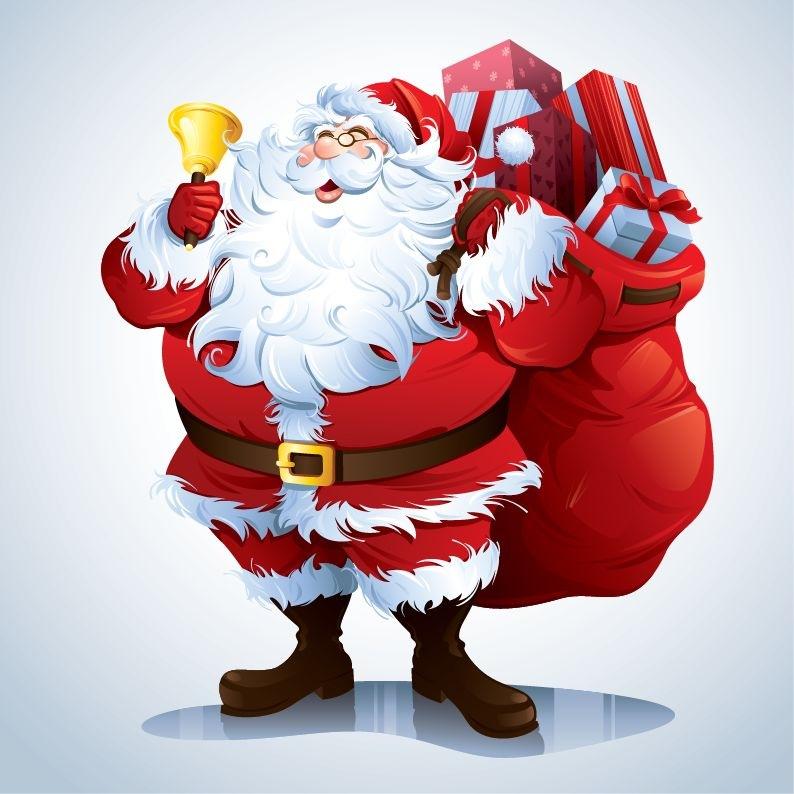 Santa Claus Vector Clip.