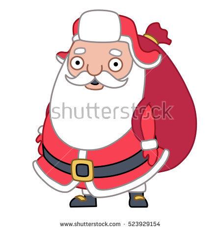 Crazy Santa Vector Cartoon Flasher Santa Stock Vector 164079884.