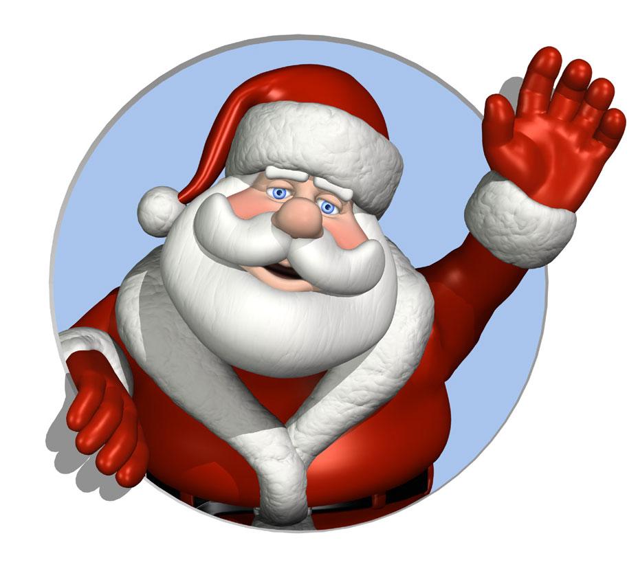 Christmas Santa Free Clipart.