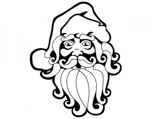 Free santa claus vector clip art Vector.