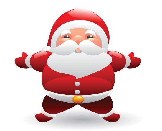 Vector Santa Claus Clipart.