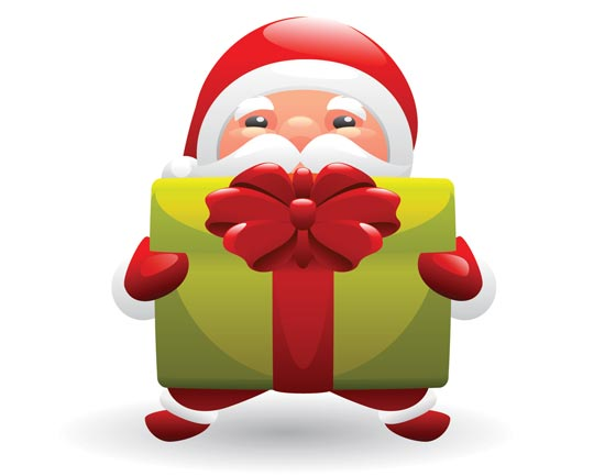Vector Santa Claus Clipart.