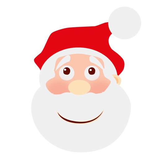 Smile santa claus emoticon.