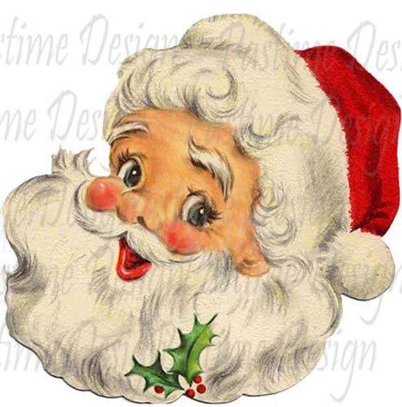 Vintage Santa image download,Santa claus clipart,santa.