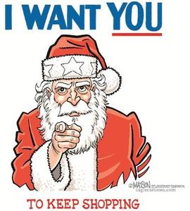 Santa Shopping Clipart.