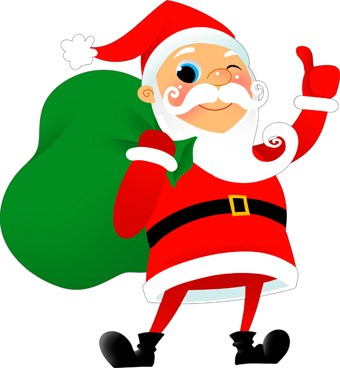 Winking santa clipart 2 » Clipart Portal.