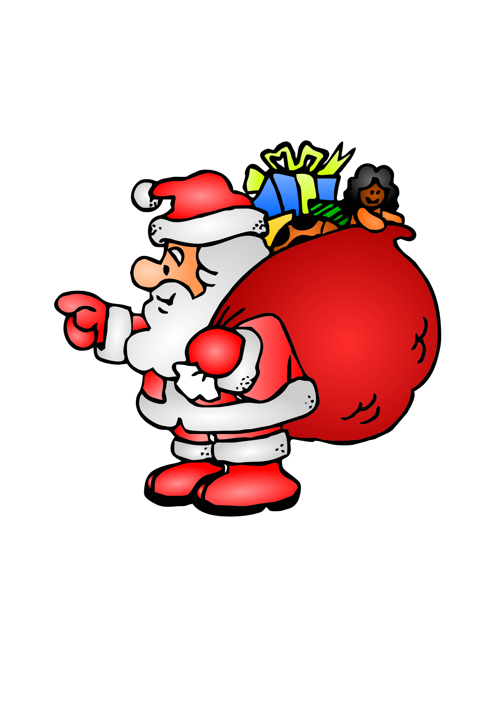 Santa Claus Clip Art Coal.