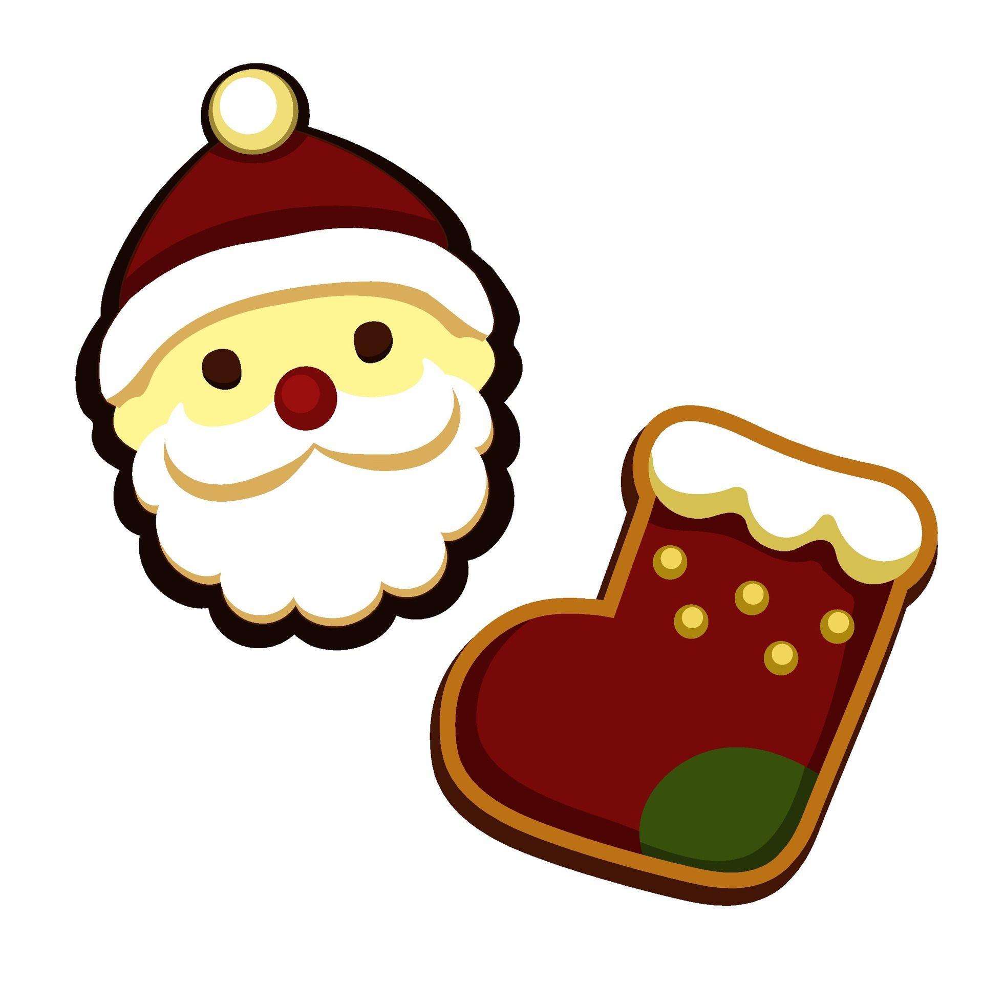 Santa Cookie #christmas #happynewyear #winter #vector #art.