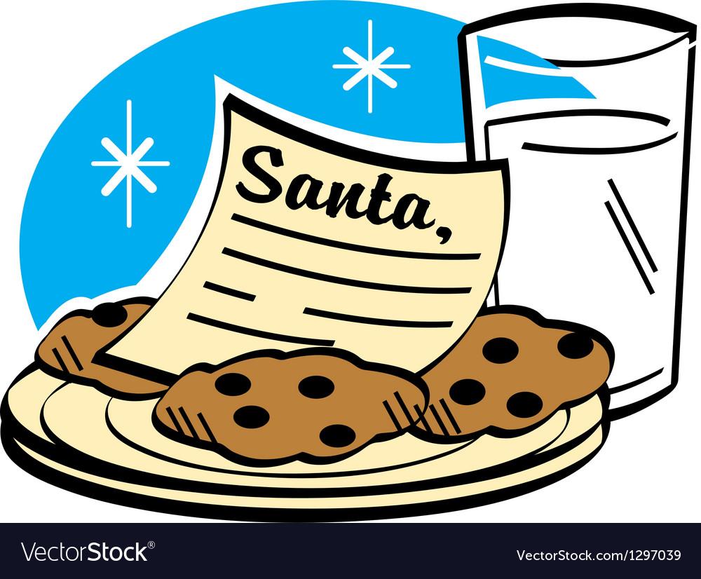 Milk and cookies for Santa.
