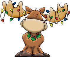 Moose Santa Clipart.