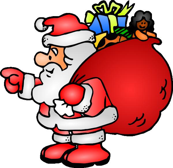 Santa Claus With His Bag Clip Art at Clker.com.
